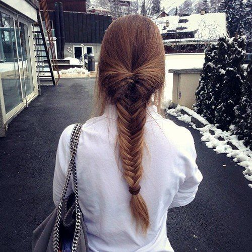 Simple full-braided but adorable fishtail!
