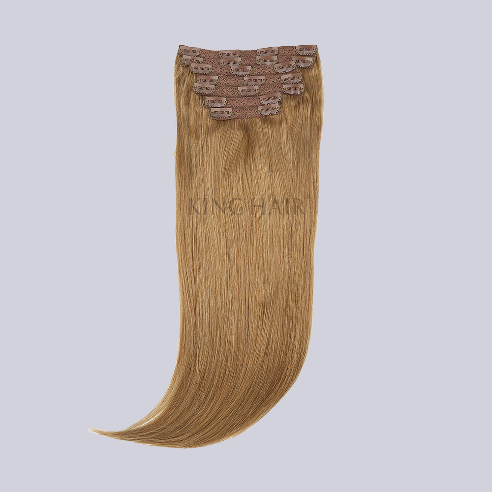 Ash Brown(#8) Remy Clip In Hair Extensions