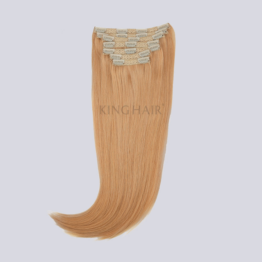 Strawberry Blonde(#27) Remy Clip In Hair Extensions