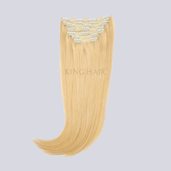 Bleach Blonde(#613) Remy Clip In Hair Extensions