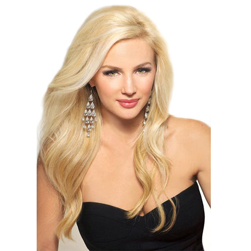 18 Inches Bleach Blonde 613 Remy Clip In Hair Extensions