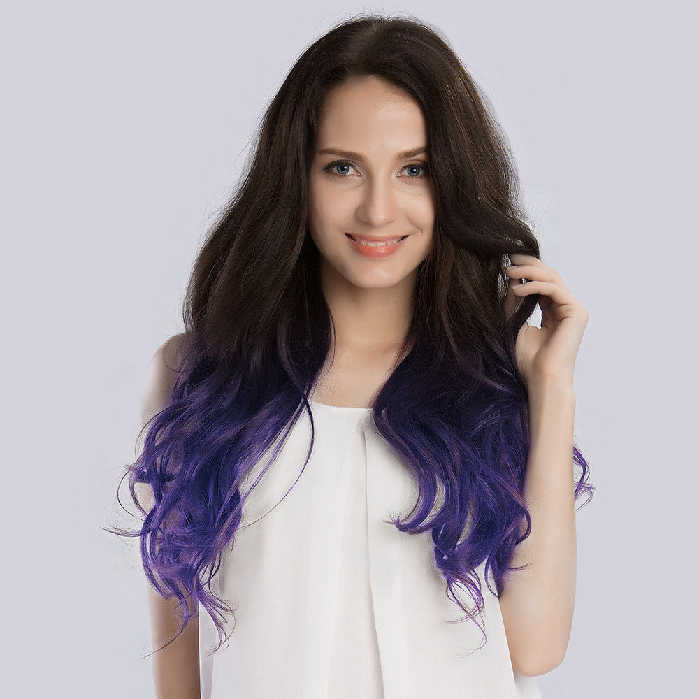 20 Inches Ombre#2/Violet Remy Clip In Hair Extensions - KINGHAIR