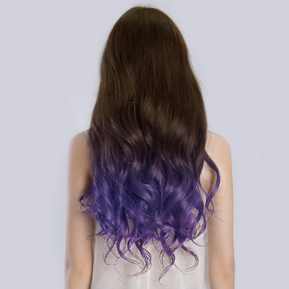 20 Inches Ombre#4/Violet Remy Clip In Hair Extensions - KINGHAIR
