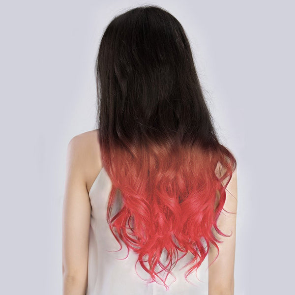 Ombre#1B/Pastel Pink Remy Clip In Hair Extensions