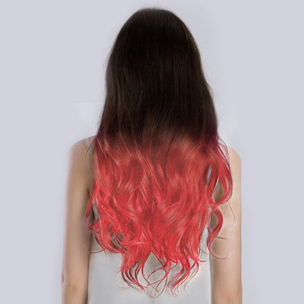 Ombre#2/Pastel Pink Remy Clip In Hair Extensions