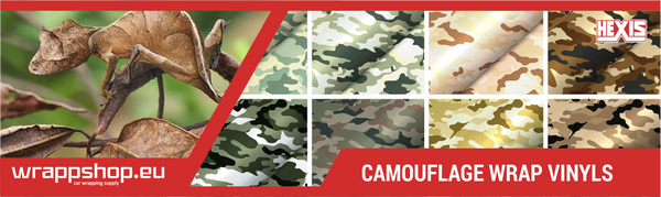 CAMO CAR WRAP VINYLS - Style your car with Camouflage