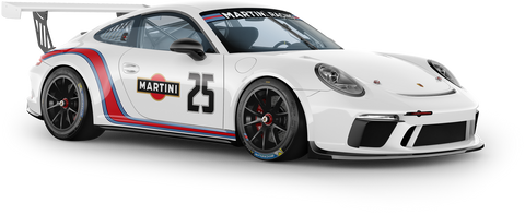Curved Martini Racing Stripes - GT3