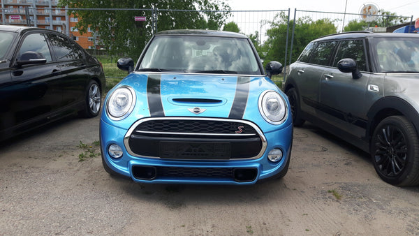 Mini Cooper 2007-2013 Hood Bonnet and Trunk Stripes with Silver Contour WRAPPSHOP.EU Car Decals
