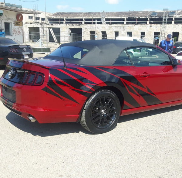 Shredded side graphic set for any Ford Mustang model