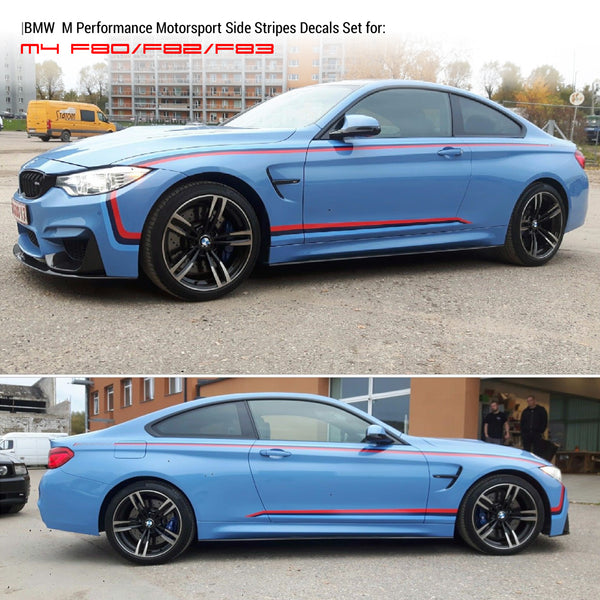 M Performance m4 f80 f82 f83 Motorsport Stripes
