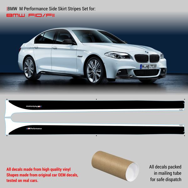 BMW M Performance Set of Side Stripes for M5 F10 / F11 - WRAPPSHOP.EU | Car Decals, Stripes, Vinyls