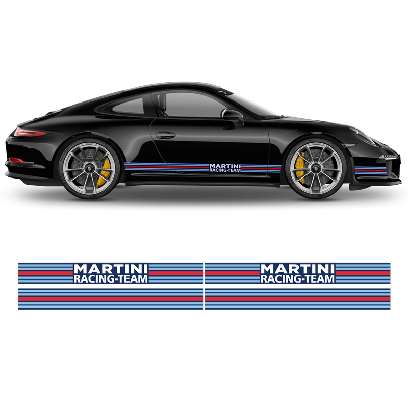 Martini Pin Up Girl Racing stripes for Porsche Carrera