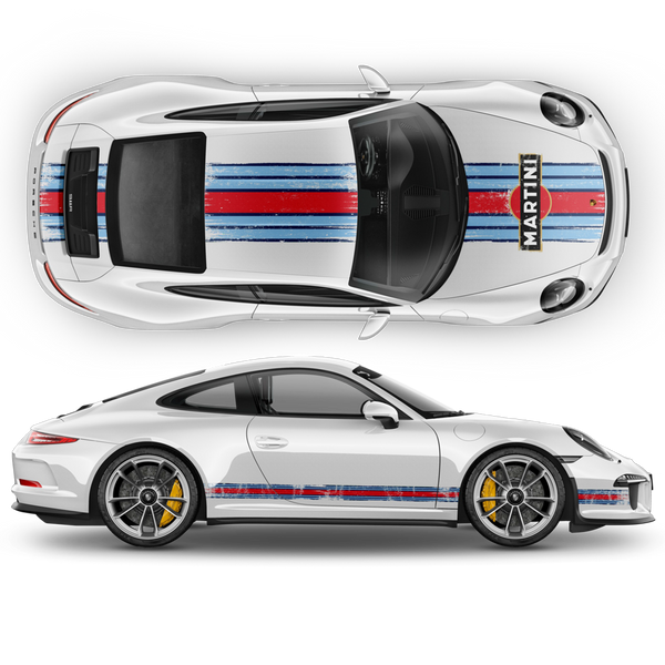 Scratched Martini Racing Stripes for Carrera 1999 - 2021