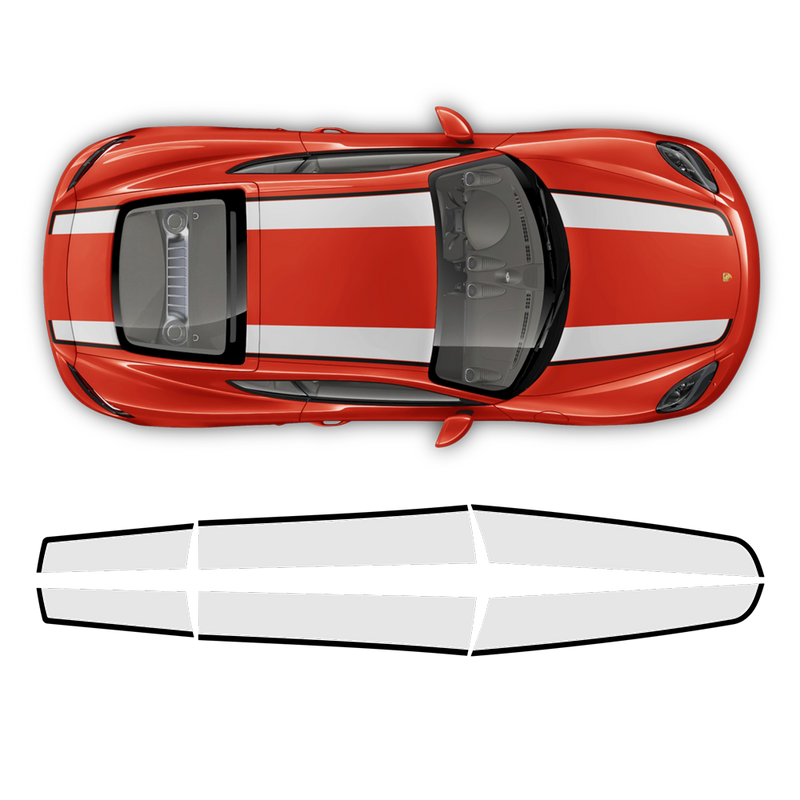 Contoured R Stripes Over The Top, Cayman / Boxster 2005 - 2020