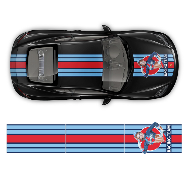 Martini Pin Up Girl Racing stripes for Porsche Cayman / Boxster