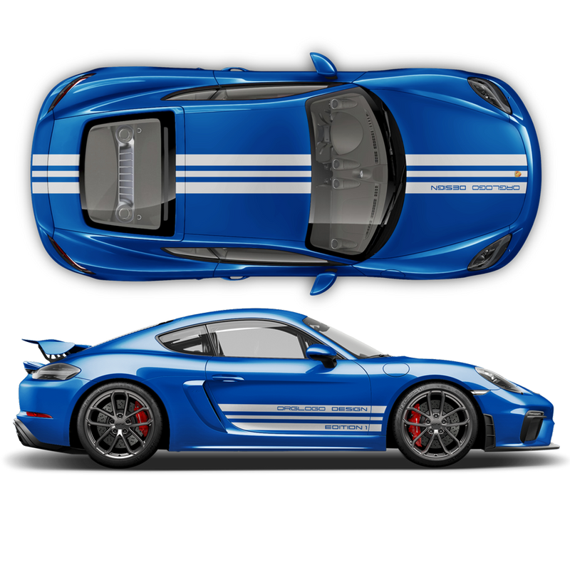 Porsche Design Edition 1 Racing stripes set, Cayman / Boxster 2005 - 2020