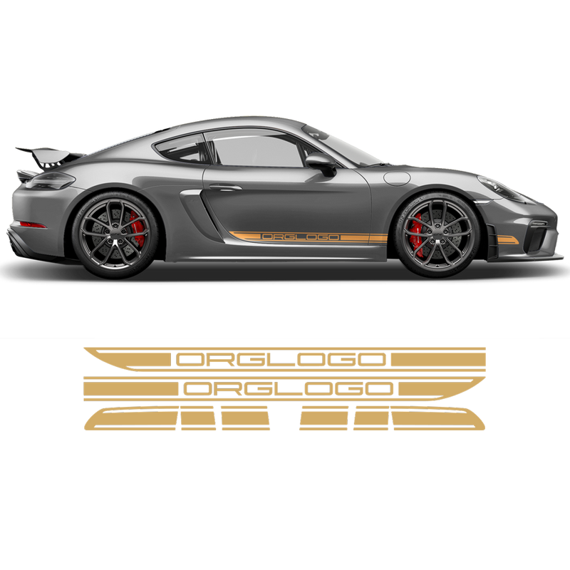 Racing Decals set in one color for Cayman / Boxster 2005 - 2018