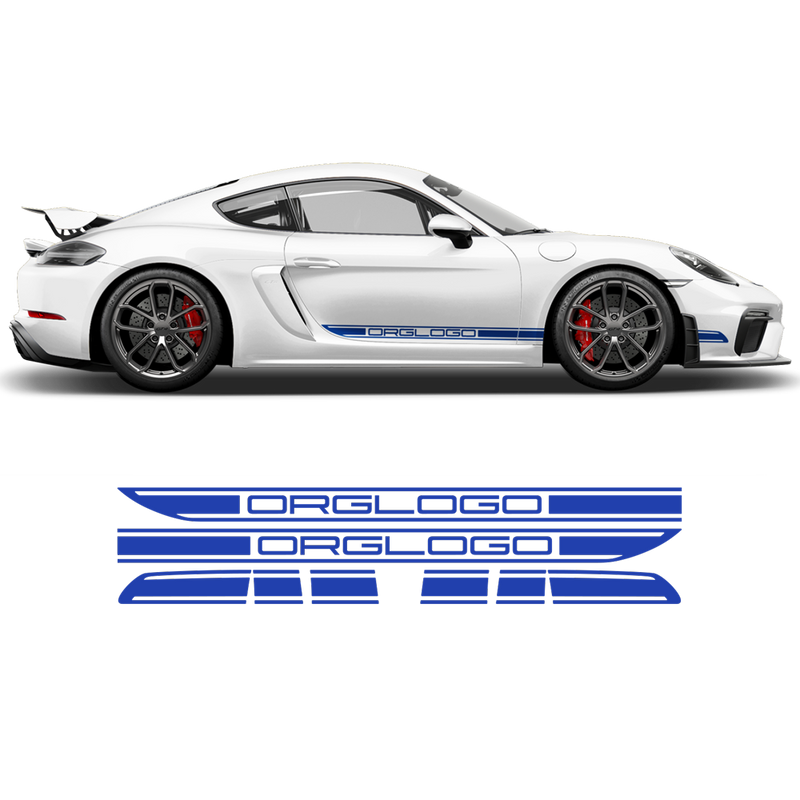 Racing Decals set in one color, for Cayman / Boxster 2005 - 2018