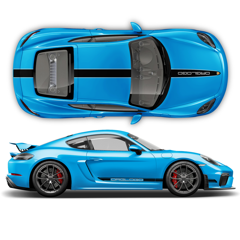 Racing Decals set in two colors for Cayman / Boxster 2005 - 2020
