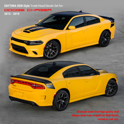 Dodge Charger 2015 - 2019 Daytona Style Trunk / Hood Stripes