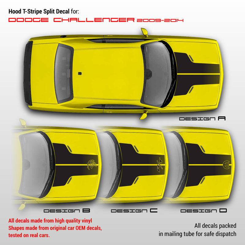 dodge hood decals T Stripes