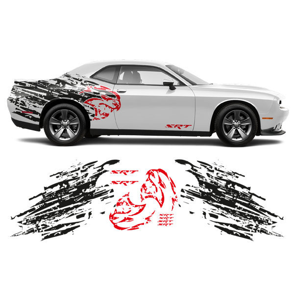 Shredded Hellcat Side Graphic for Dodge Challenger 2008 - 2020