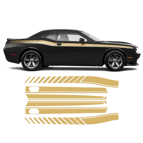 Long Side Stripes for Dodge Challenger 2011 - 2020 black