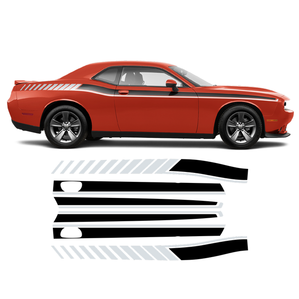Long Side Stripes two colors for Dodge Challenger 2011 - 2020