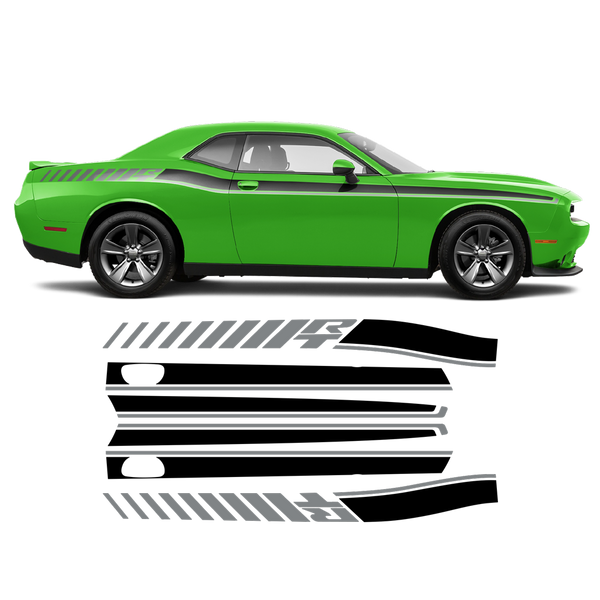 R / T Long side stripes two colors for DODGE Challenger 2011 - 2020