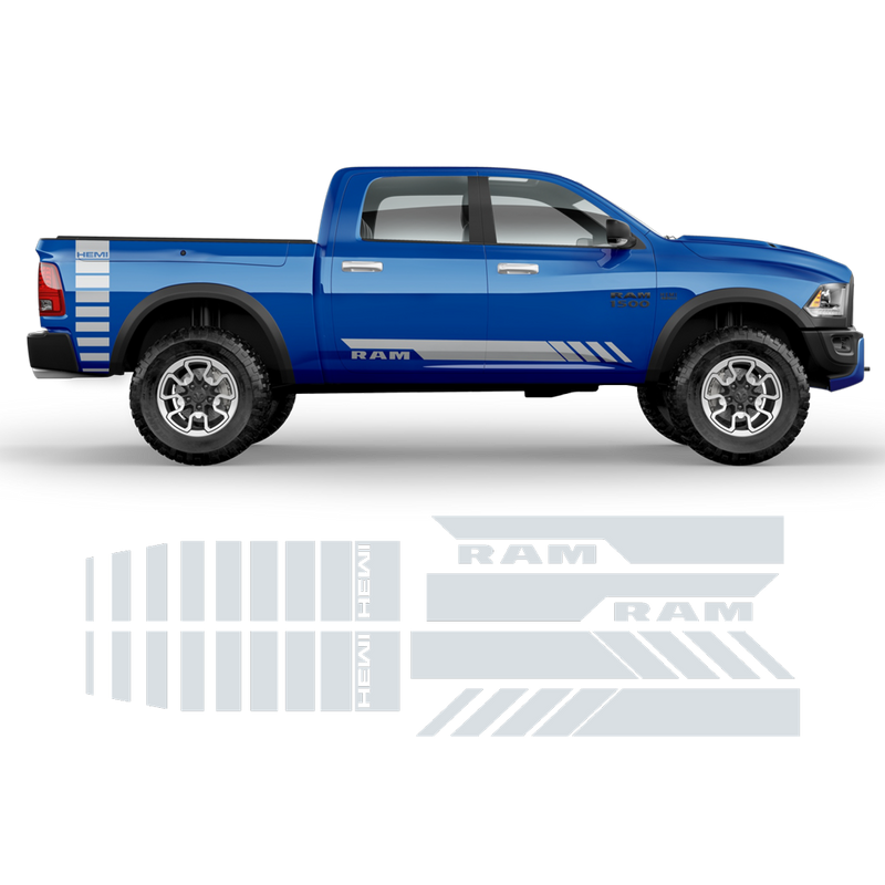 Side Stripes Graphic for Dodge RAM black