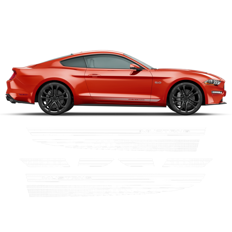 Faded Rocker Stripes for Mustang 2015 - 2020 black