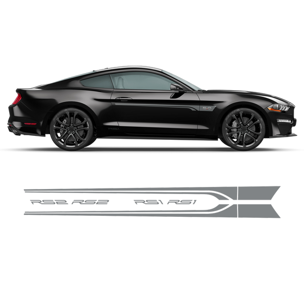ROUSH Stage1 Stage2 Door Stripes, Ford Mustang 2015 - 2020 black