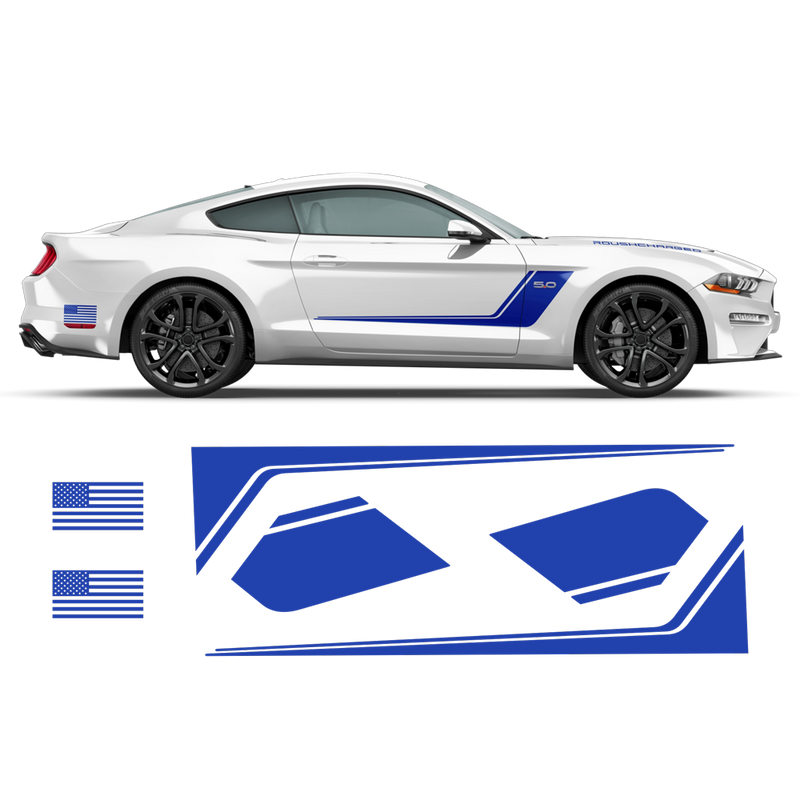 Roush Stage3 Racing Stripes Set, for Ford Mustang 2015 - 2019 black