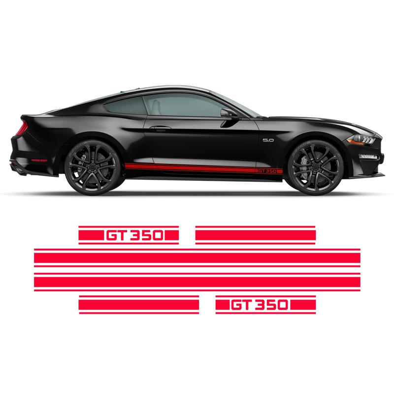 Shelby GT350 Rocker stripes for Ford Mustang 2015 - 2020