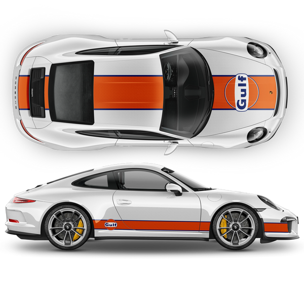 GULF Le Mans Racing Stripes kit for Carrera 1999 - 2020