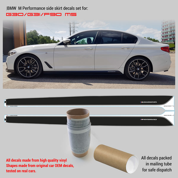 BMW M Performance Side skirt decals Set for M5 G30 /G31/F90 WRAPPSHOP.EU