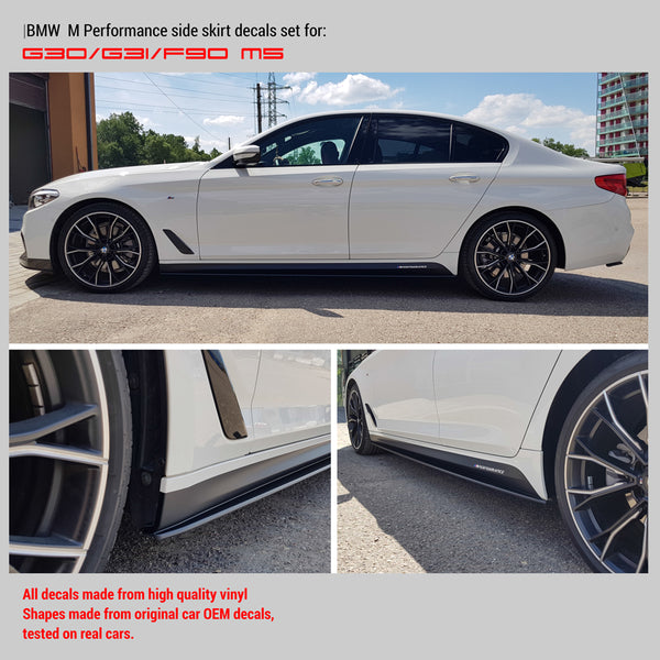 BMW M Performance Side skirt decals Set for M5 G30 /G31/F90 - WRAPPSHOP.EU