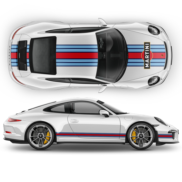Martini Racing stripes for Carrera ( 1999 - 2021 ) Martini Regular