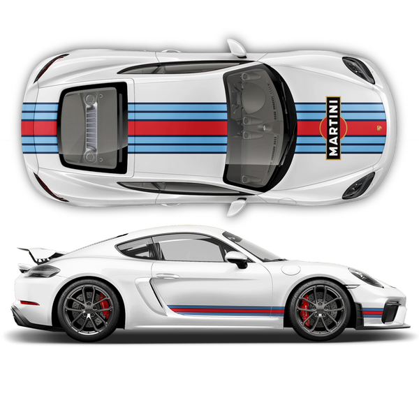 Martini Racing stripes for Cayman / Boxster Martini Regular