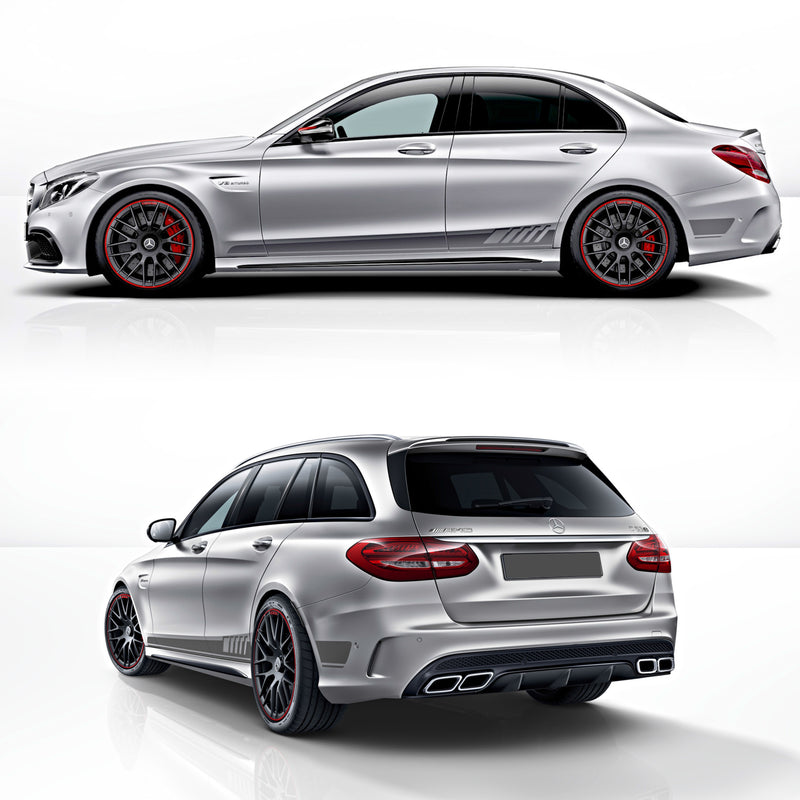 MB AMG C63 Edition 1 Rocker panel stripes decals set - WRAPPSHOP.EU | Car Decals, Stripes, Vinyls