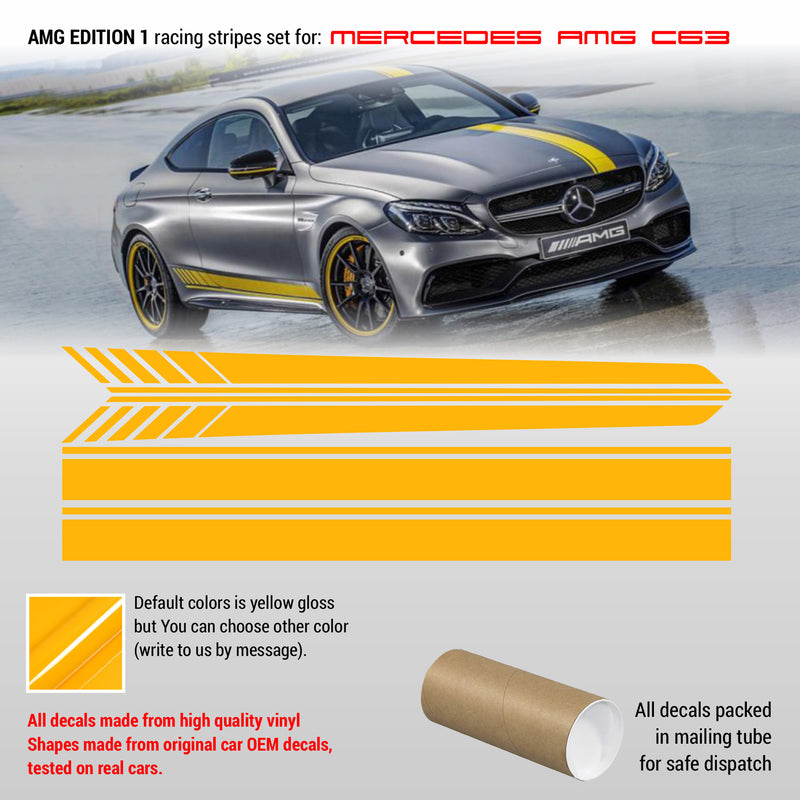 MB AMG C class edition 1 design Racing stripes - WRAPPSHOP.EU | Car Decals, Stripes, Vinyls