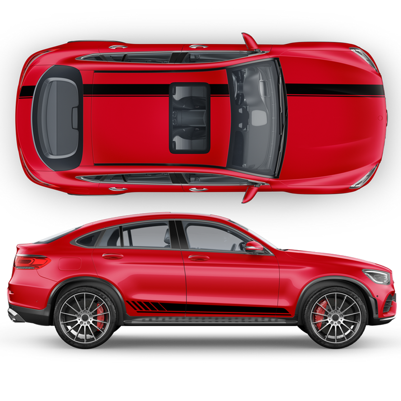 AMG Edition1 Stripes Set for Mercedes-AMG GLC / GLC Coupe black