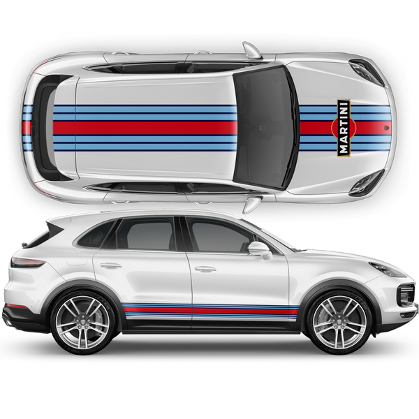 Martini Racing Stripes, Cayenne / Macan Martini Regular