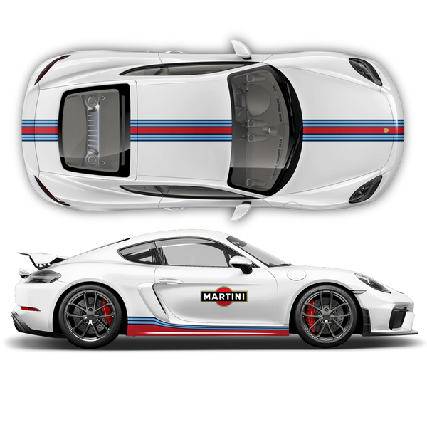Martini Racing stripes set for Porsche Cayman / Boxster