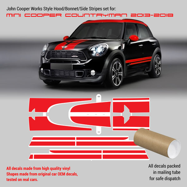 Mini Cooper JCW Countryman stripes