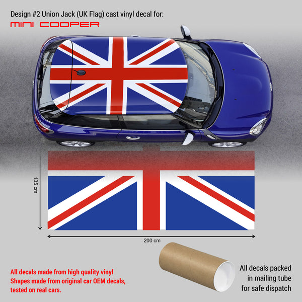 Mini Cooper ROOF decal Union Jack #2