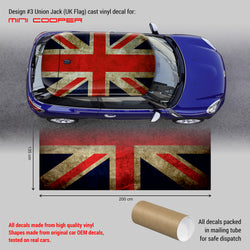 Mini Cooper ROOF decal Union Jack #3 - WRAPPSHOP.EU | Car Decals, Stripes, Vinyls