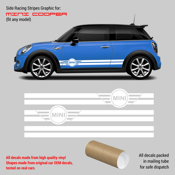 Mini Cooper racing side Stripes