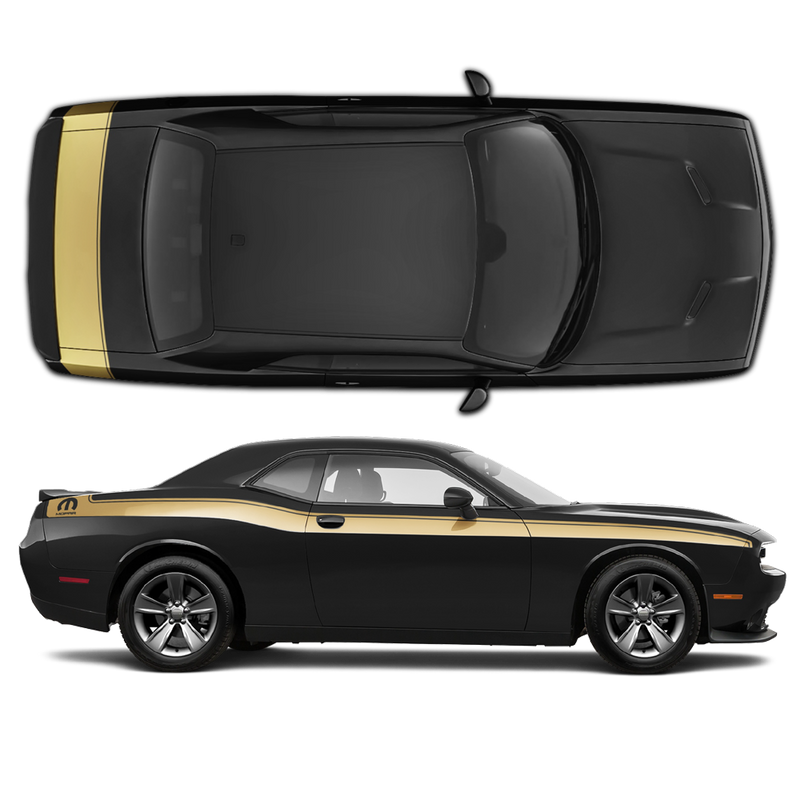 Mopar Side Stripes / Trunk Set for Dodge Challenger 2011 - 2020 black