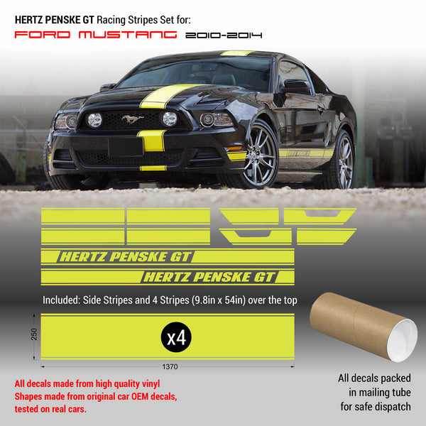 Mustang Hertz Penske GT Racing Stripes set 2010 - 2014